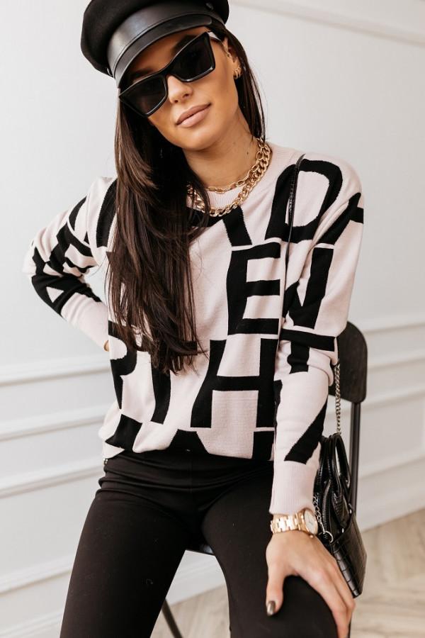 Sweter Alpha White czarny 1