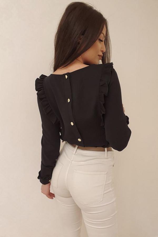 Bluzeczka falbanka czarna 1