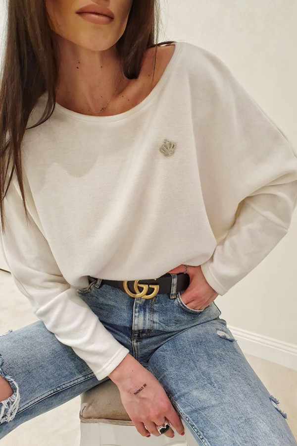 Sweterek corona biały