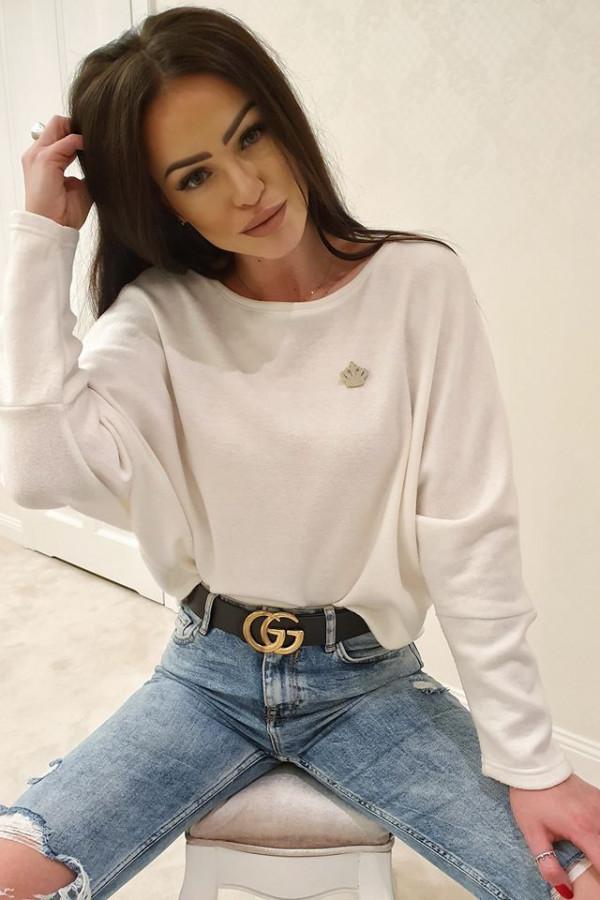 Sweterek corona biały 1