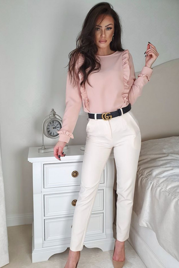 Bluzeczka falbanka róż pudrowy