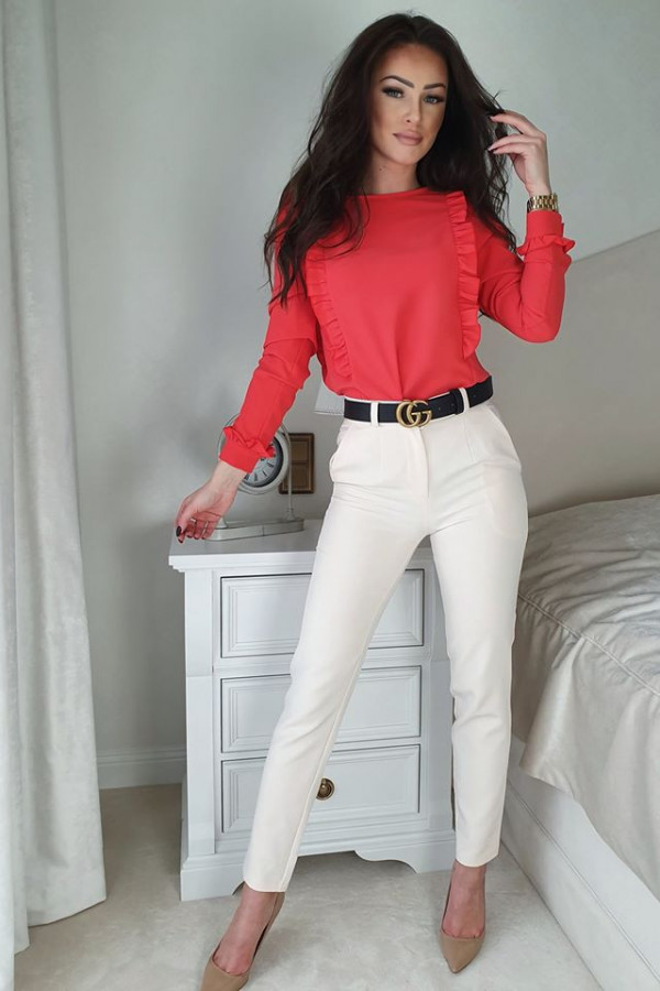 Bluzeczka falbanka czerwona
