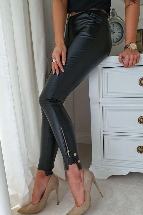 Spodnie czarne woskowane 2