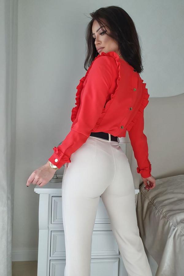 Bluzeczka falbanka czerwona 1