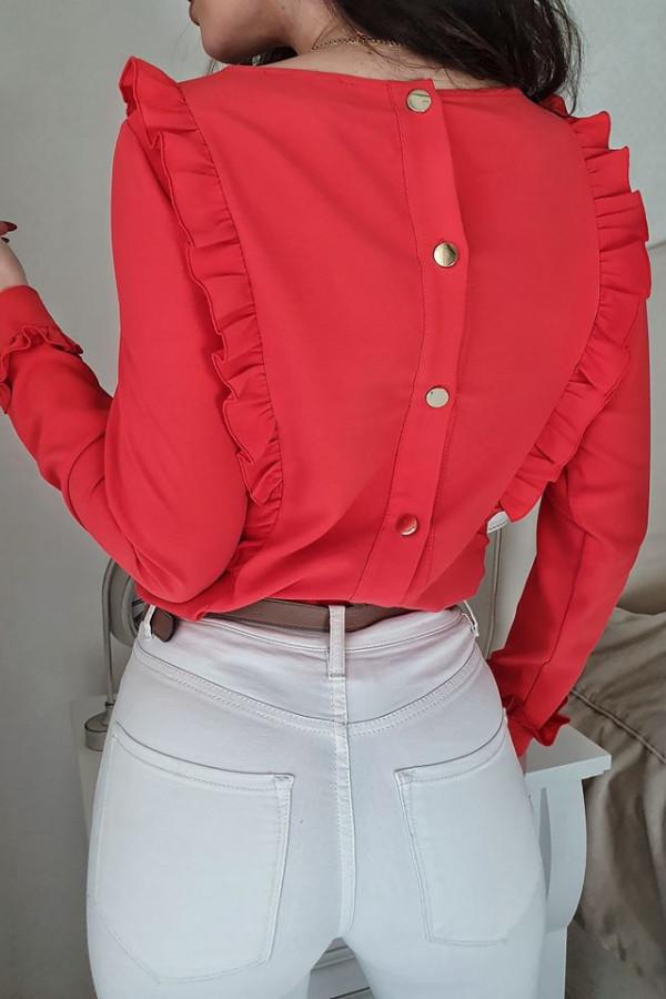 Bluzeczka falbanka czerwona 2