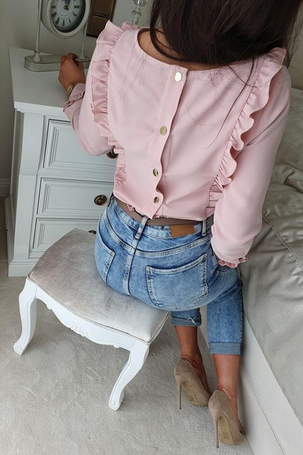 Bluzeczka falbanka róż pudrowy 2