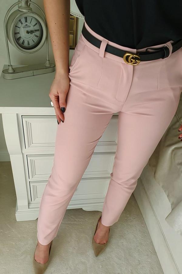Spodnie classic pudrowy róż