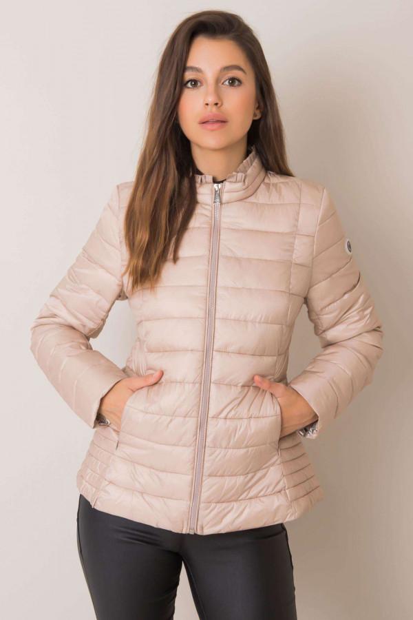 Beżowa pikowana kurtka na zimę Justine 2