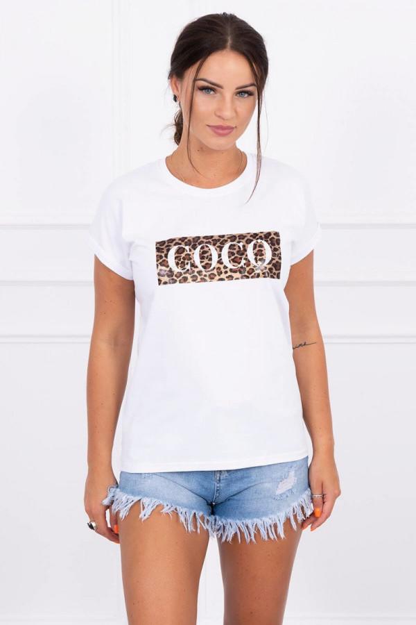 Bluzka z krótkim rękawem Coco biała