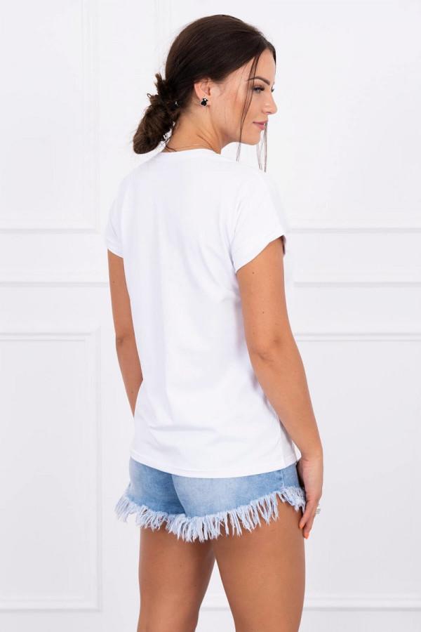 Bluzka z krótkim rękawem Coco biała 1