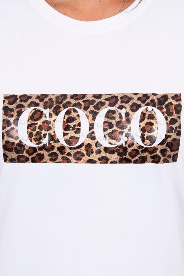 Bluzka z krótkim rękawem Coco biała 2