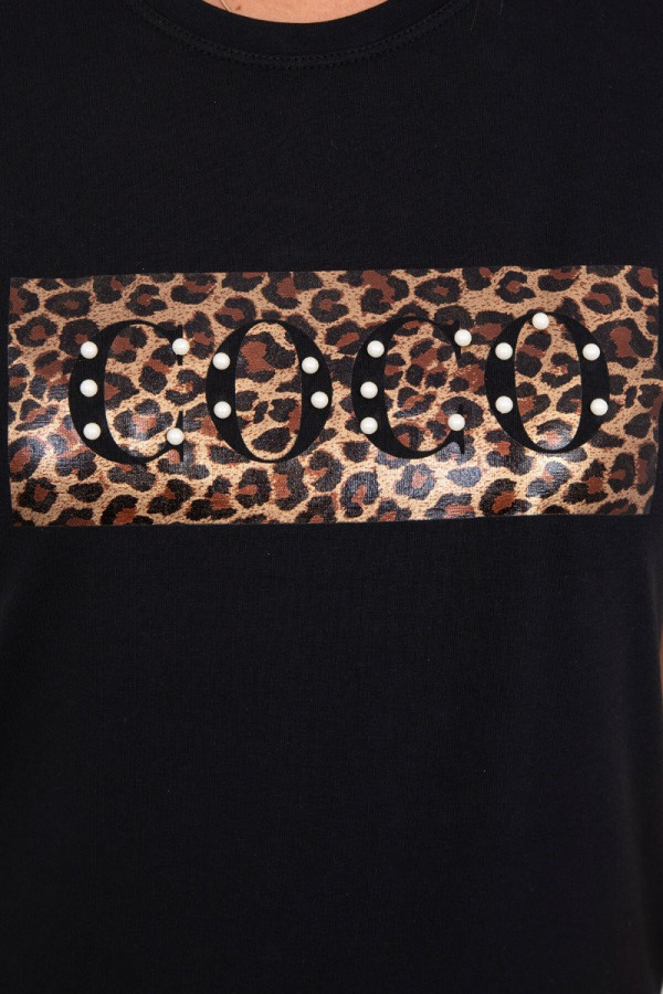 Bluzka z krótkim rękawem Coco czarna 2