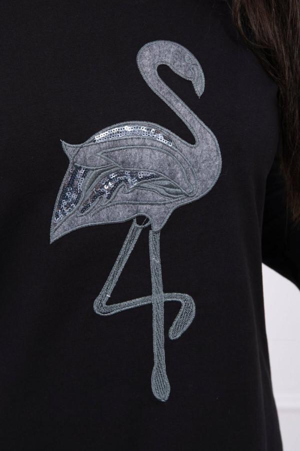 Bluzka z nadrukiem flaming czarna 2
