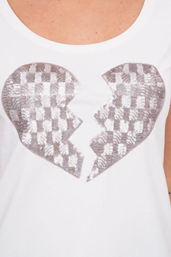 Bluzka złamane serce Ecru 2