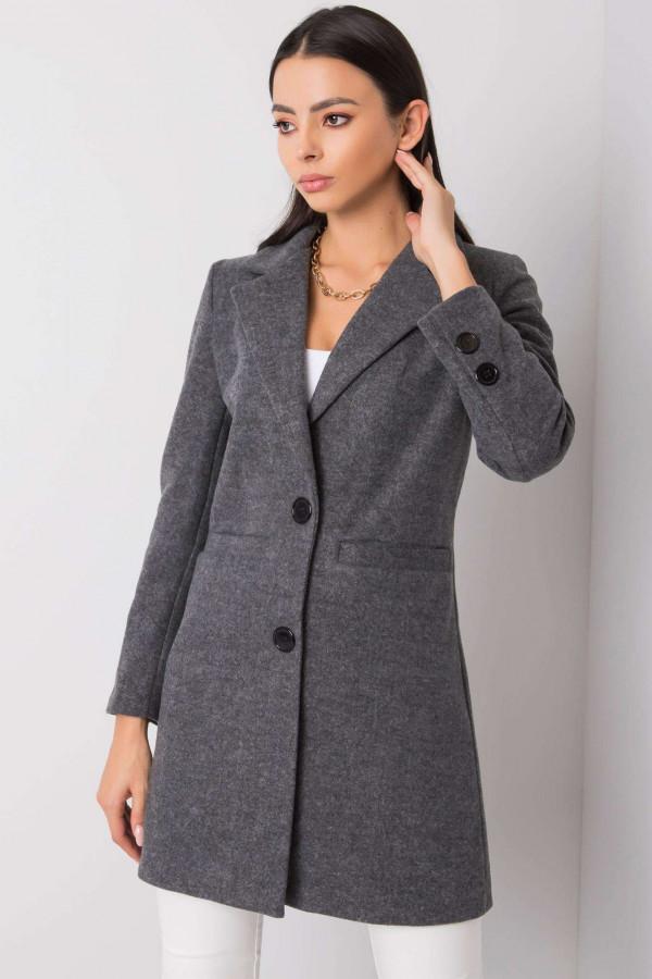 Ciemnoszary płaszcz Dorna 1