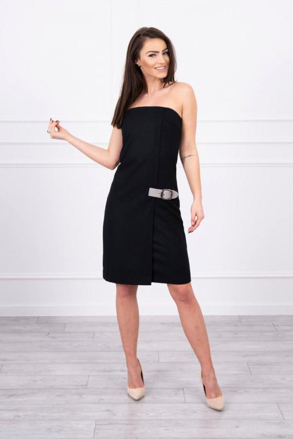 Sukienka bez ramiączek czarna