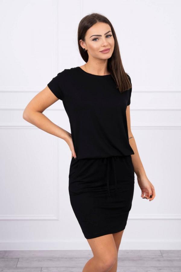 Sukienka wiązana w talii czarna