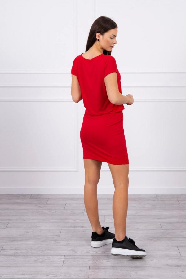 Sukienka wiązana w talii czerwona 1