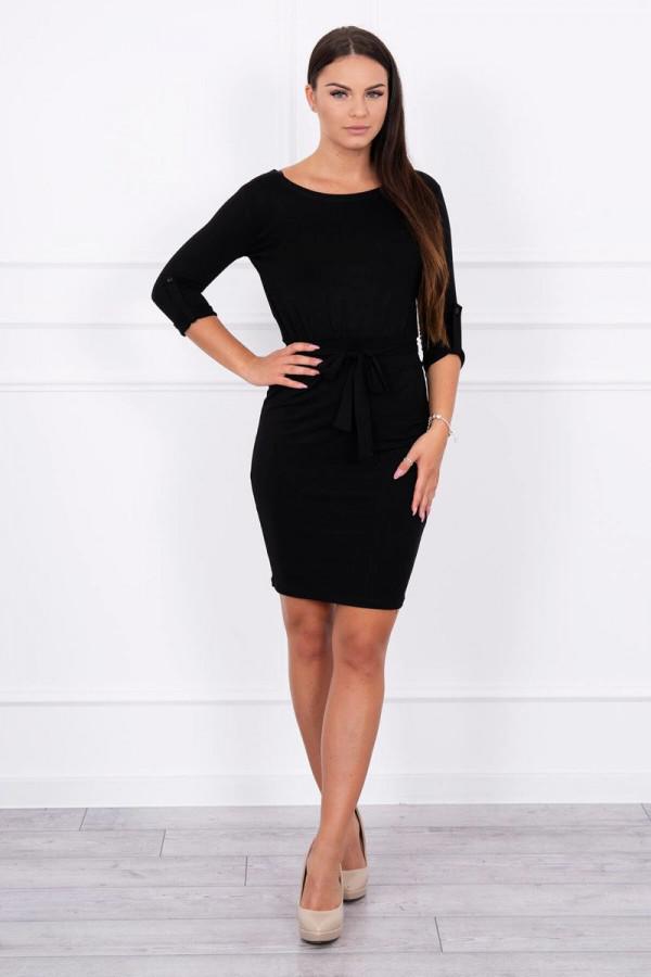 Sukienka z wywijanym rękawem czarna