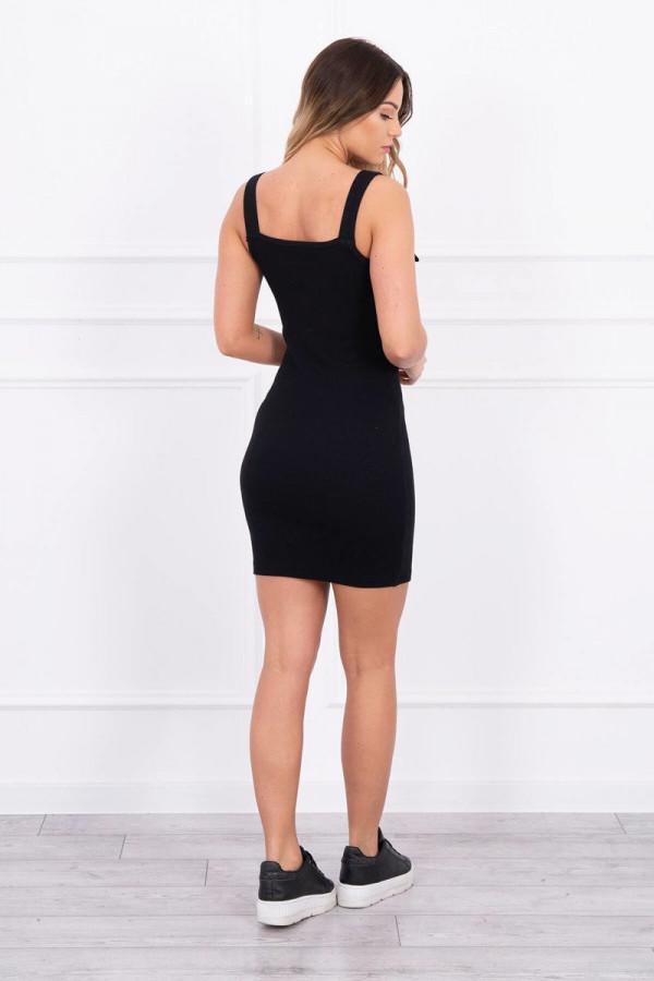Sukienka z zapinanymi ramiączkami czarna 1