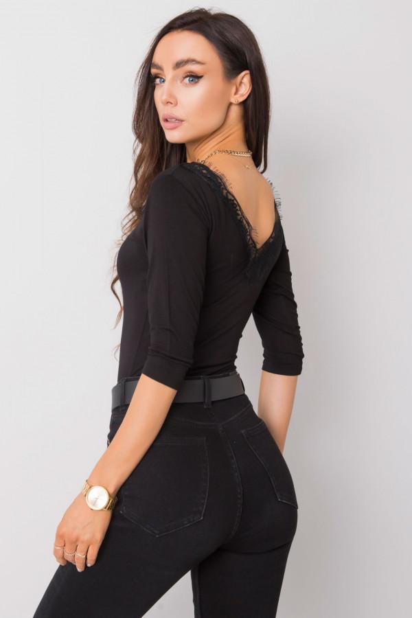 Czarna bluzka z koronką Corallie Rue Paris 2