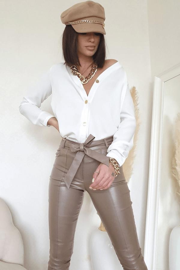 Elegancka koszula biała lou