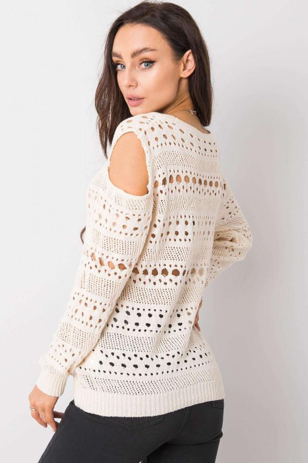 Ażurowy sweter Gabriella écru 1