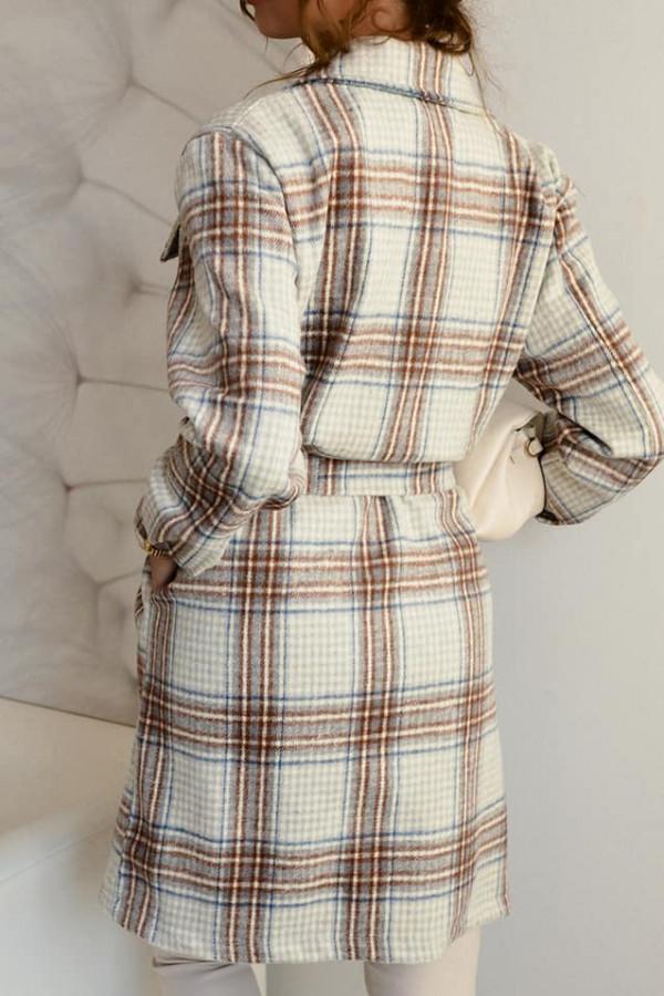 Płaszcz/koszula w kratę 1
