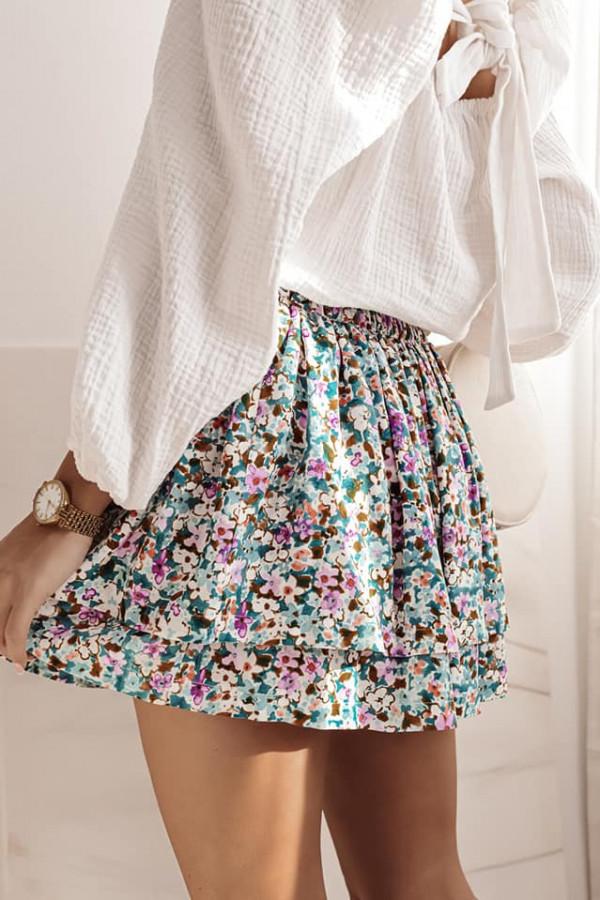 Spódnica mini z printem 1