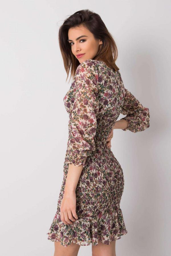 Sukienka z printem Alaina jasnobeżowa 2