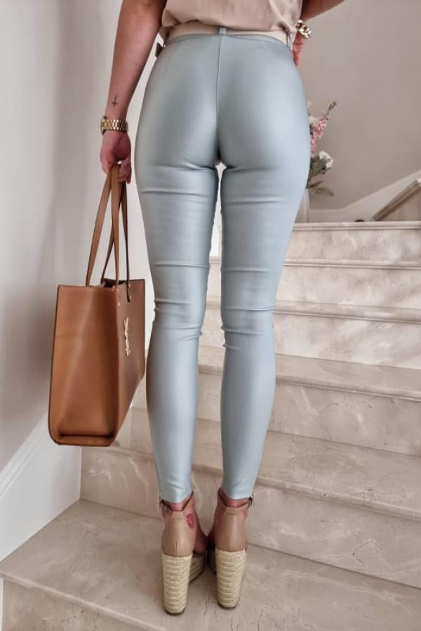Spodnie woskowane Karl mięta 1