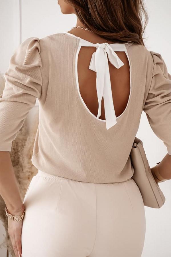 Bluzka wełniana Cameniu beż