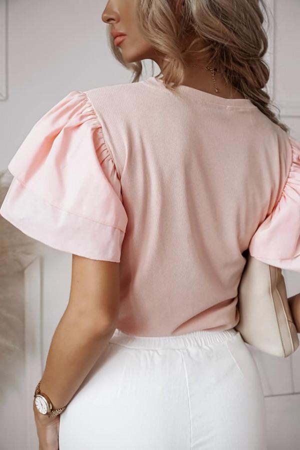 Bluzka Fiona pudrowy róź 1