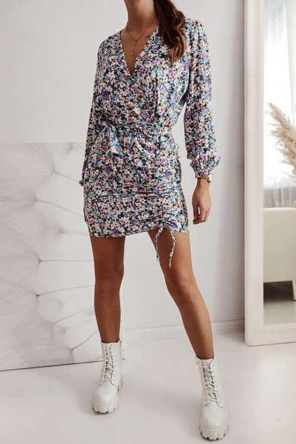 Sukienka z printem 1