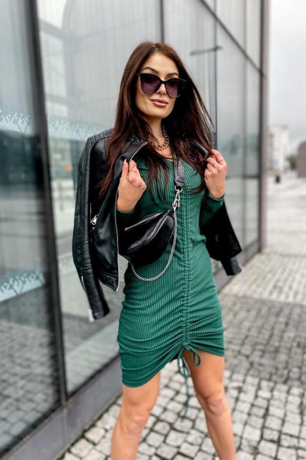 Sukienka butelkowa zieleń 1