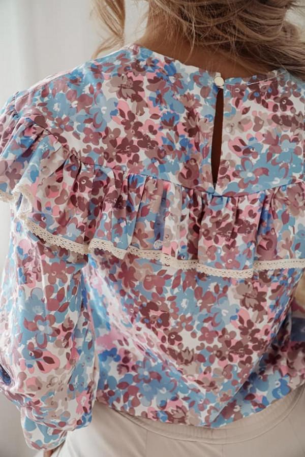 Bluzka koszulowa w kwiaty 1