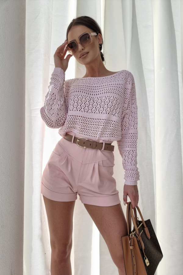 Sweterek oversize różowy