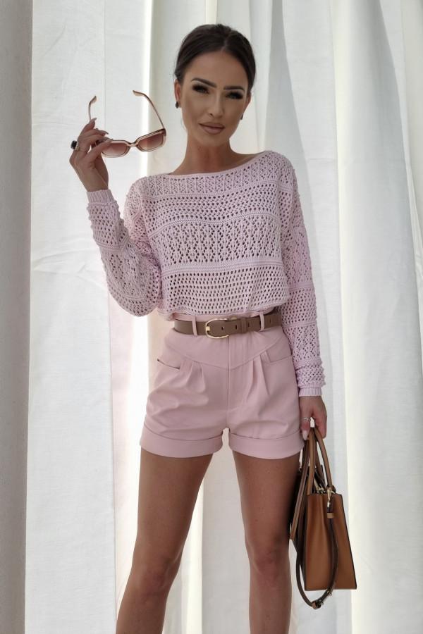 Sweterek oversize różowy 1