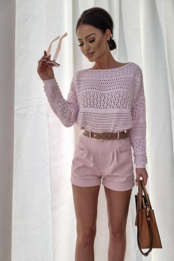 Sweterek oversize różowy 2