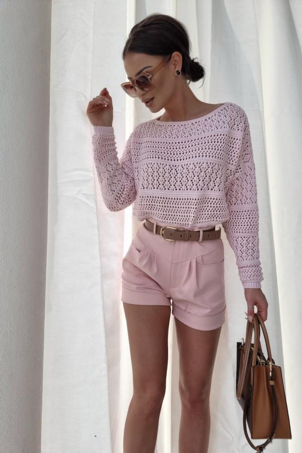 Sweterek oversize różowy 3