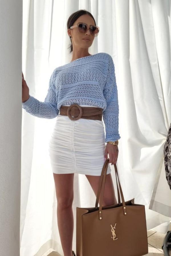 Sweterek oversize błękitny 1