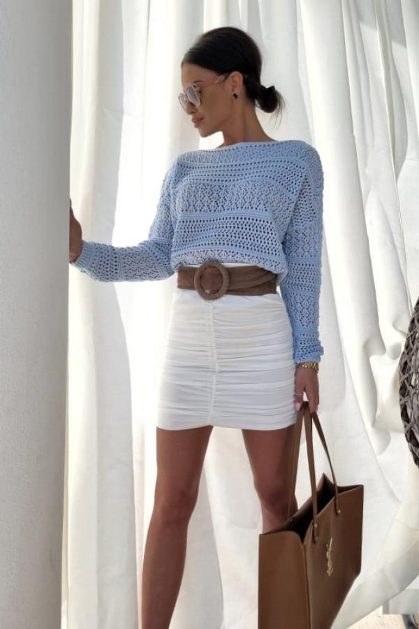 Sweterek oversize błękitny 4