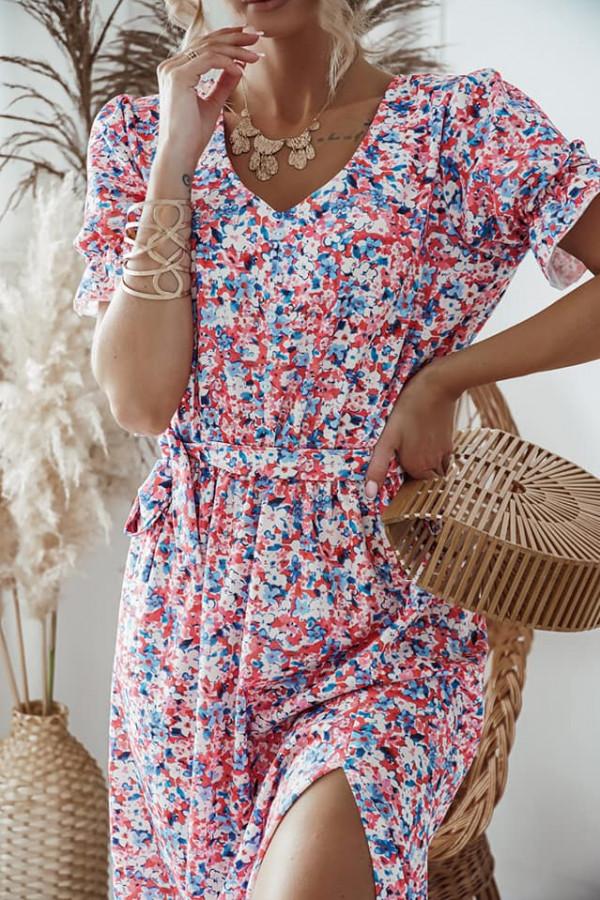 Sukienka Zefir różowa 1