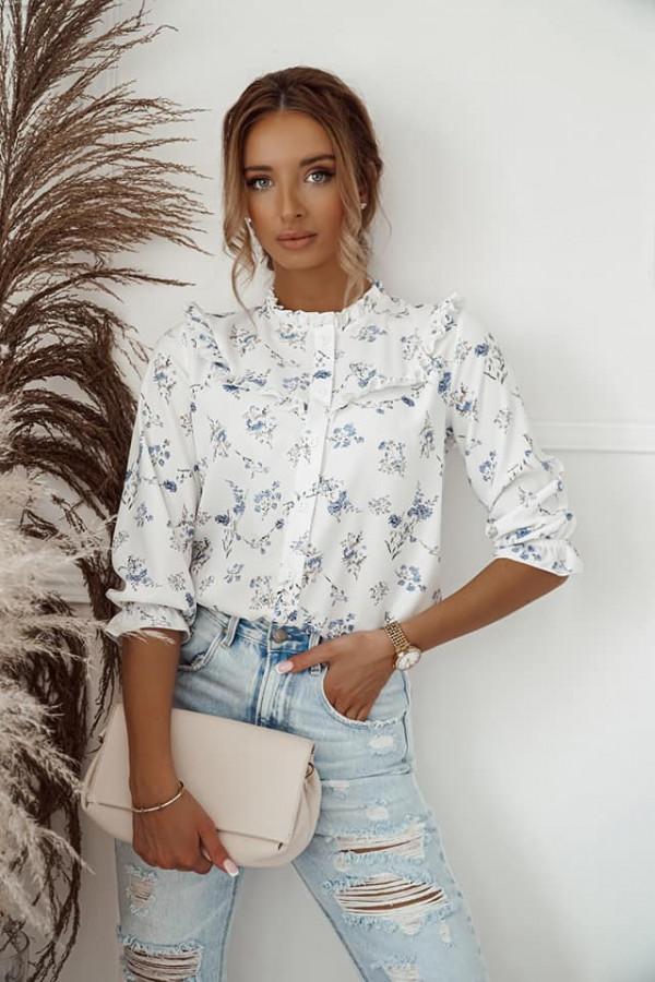 Koszula z kwiatowym printem