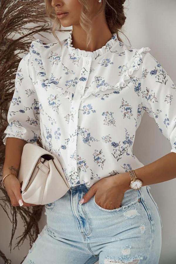 Koszula z kwiatowym printem 1