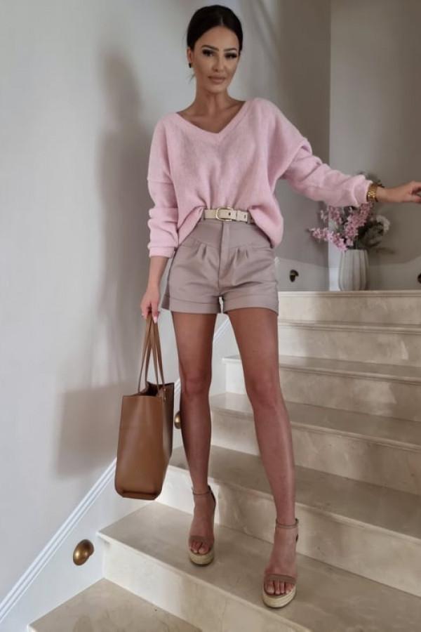 Sweterek By Me oversize różowy