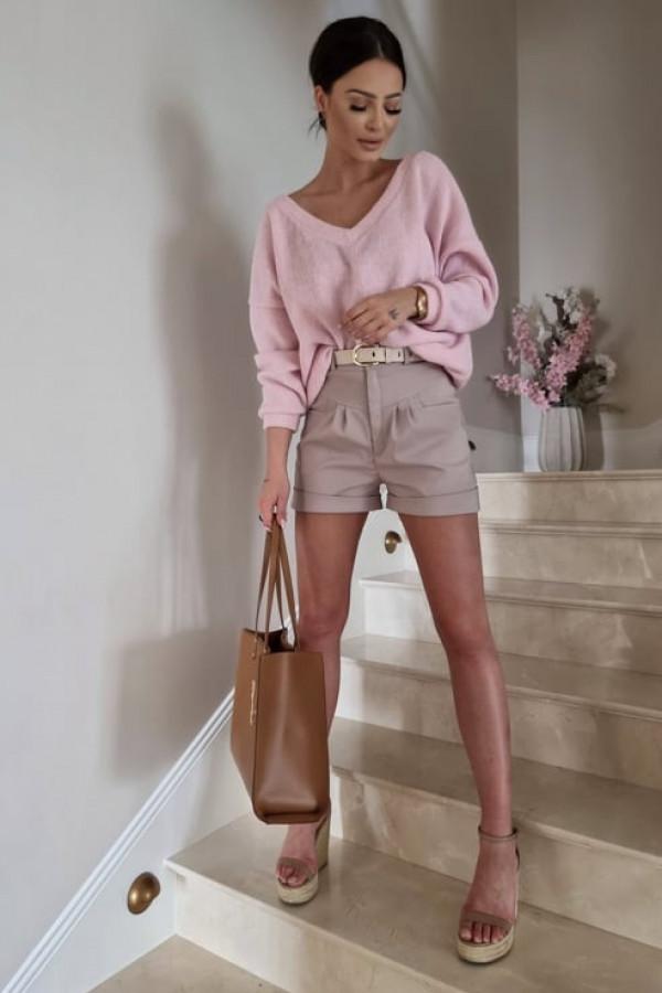Sweterek By Me oversize różowy 1