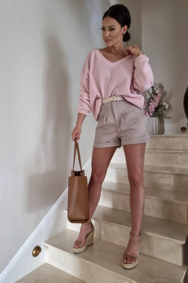 Sweterek By Me oversize różowy 2