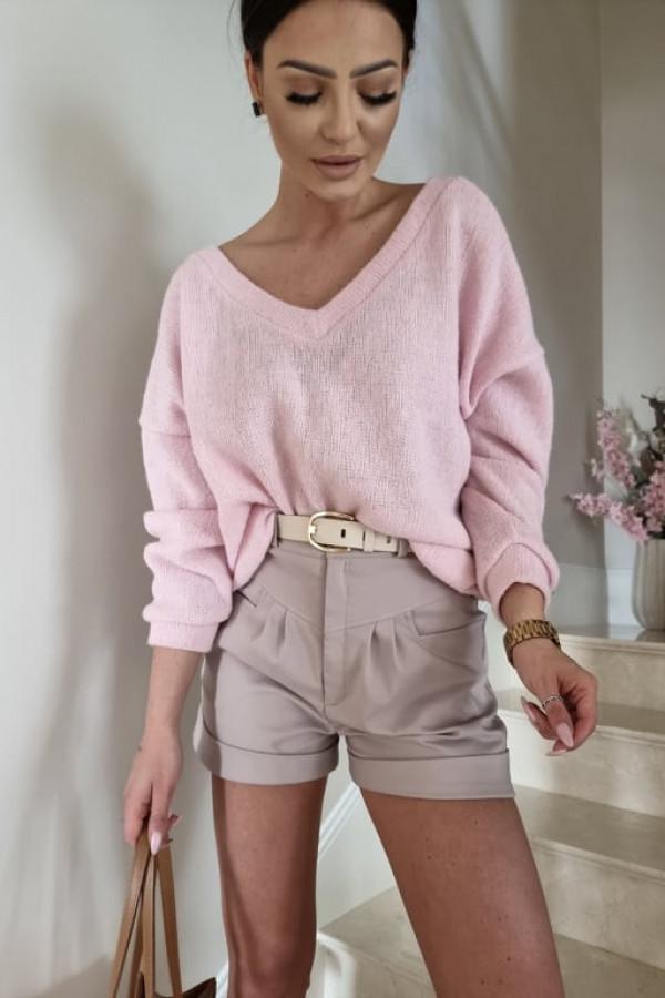 Sweterek By Me oversize różowy 3