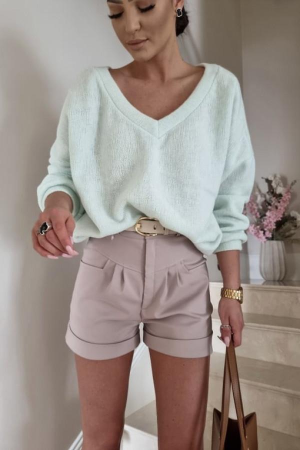 Sweterek By Me oversize miętowy 1